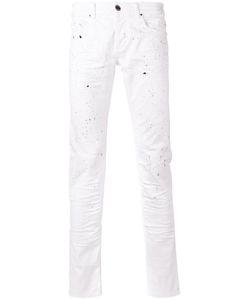 Les Hommes | Paint Splatter Slim-Fit Jeans Mens Size 32 Cotton/Spandex/Elastane