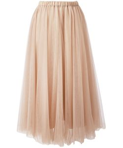 Rochas | Elasticated Waistband Tulle Skirt Womens Size 40 Polyamide