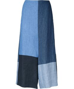 Demoo Parkchoonmoo | Colour Block Cropped Trousers Womens Size 36 Linen/Flax
