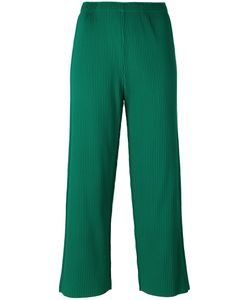 Issey Miyake Cauliflower | Ribbed Detail Cropped Pants Womens Polyester