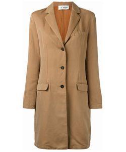 Barena   Buttoned Midi Coat Womens Size 44 Cotton/Linen/Flax/Viscose