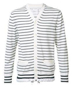 Sacai | Striped Cardigan Mens Size 2 Cotton/Cashmere