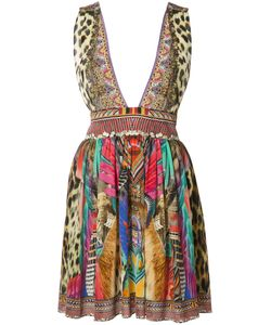 Camilla | Printed Plunge Dress Womens Size 8 Silk