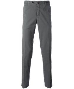 Pt01 | Off Centre Button Chinos Mens Size 46 Cotton/Spandex/Elastane
