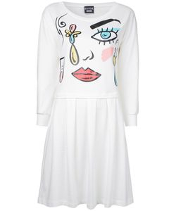 Boutique Moschino | Cartoon Face Print Dress Womens Size 40 Cotton