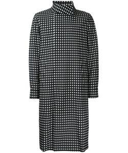 Wooyoungmi | Checked Print Coat Mens Size 50 Cotton/Nylon/Spandex/Elastane