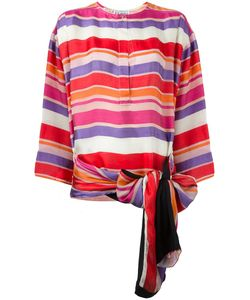 Gianfranco Ferre Vintage | Bow Detail Striped Blouse Womens Size 42