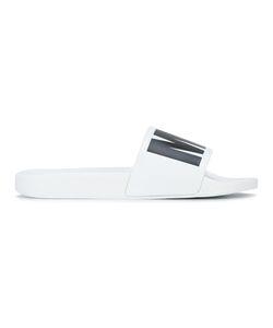 MSGM | Logo Print Slider Sandals Mens Size 44 Rubber