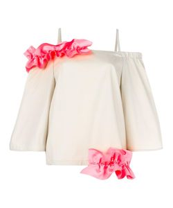 Paskal | Ruffle Detail Top Womens Size Xs Polyester/Cotton/Spandex/Elastane