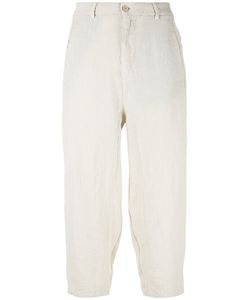 Transit | High-Waisted Loose-Fitting Trousers Womens Size 38 Linen/Flax/Cotton/Polyamide