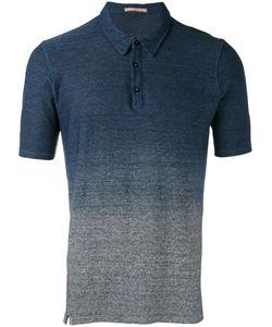 Nuur | Gradient Effect Polo Shirt Mens Size 52 Cotton/Linen/Flax