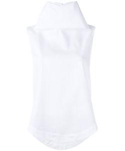 Société Anonyme   Turtle Neck Blouse Womens Size 40 Cotton