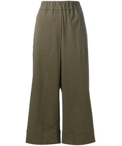Odeeh | Cropped Trousers Womens Size 40 Cotton/Lyocell/Spandex/Elastane