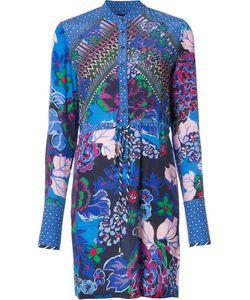 Saloni   Print Shirt Dress Womens Size 12 Acetate/Silk
