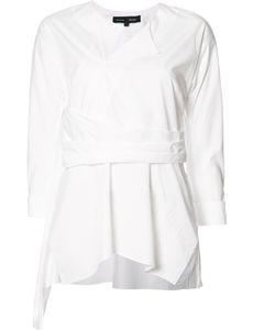 Proenza Schouler | Pleated Trim Blouse Womens Size 8 Cotton
