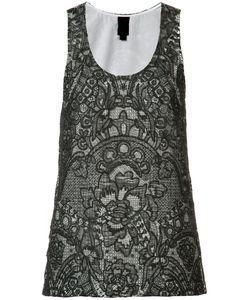 Vera Wang | Scoop Neck Tank Top Womens Size 2 Cotton/Silk/Nylon