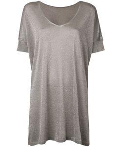 Roberto Collina | Glittery Loose Knitted T-Shirt Womens Size Xs Polyester/Viscose