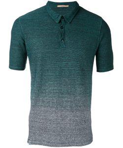 Nuur | Gradient Effect Polo Shirt Mens Size 48 Cotton/Linen/Flax