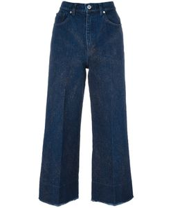 Cédric Charlier | Glitter Detail Cropped Jeans Womens Size 38 Cotton