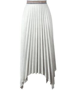 Aviù | Pleated Asymmetric Skirt Womens Size 42 Polyester