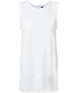 Vera Wang | Lace Panel Tank Top Womens Size Medium Cotton/Satin