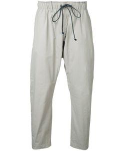 Kazuyuki Kumagai | Cropped Drawstring Trousers Mens Size 2 Cotton/Nylon/Polyurethane