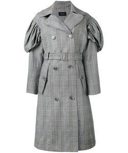 Simone Rocha | Checked Trench Coat Womens Size 10 Cotton/Linen/Flax/Spandex/Elastane/Acetate