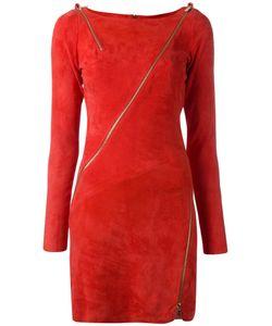 Jitrois | Zip Detail Bodycon Dress Womens Size 36 Lamb Skin/Cotton/Spandex/Elastane