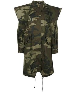 Mm6 Maison Margiela | Camouflage Coat Womens Size 40 Cotton