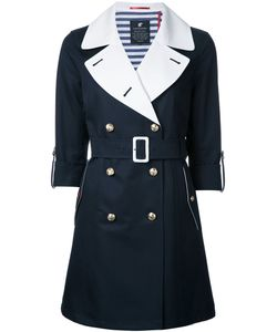 Loveless | Contrast Belted Coat Womens Size 34 Cotton