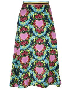 House Of Holland | Heart A-Line Midi Skirt Womens Size 10 Polyester
