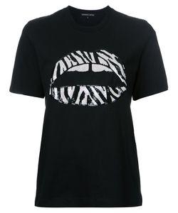 Markus Lupfer | Sequin Lips T-Shirt Womens Size Xs Cotton
