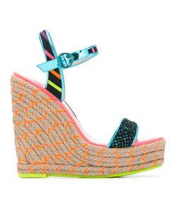 Sophia Webster | Lusita Stripes Wedge Sandals Womens Size 35 Calf