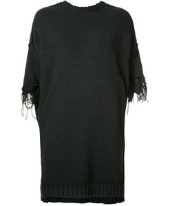 R13 | Frayed Sleeve Jumper Womens Size Xs Acrylic/Cotton/Wool