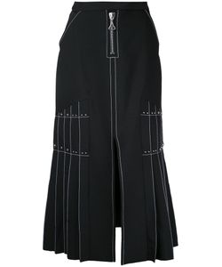 Ellery | Pleated Side Maxi Skirt Womens Size 8 Polyester/Spandex/Elastane/Wool