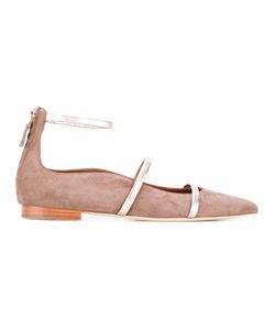 Malone Souliers | Robyn Ballerinas Womens Size 37 Calf Suede/Leather