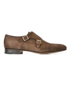 Santoni | Classic Monk Shoes Mens Size 45 Leather/Suede