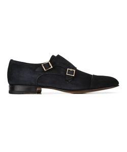 Santoni | Classic Monk Shoes Mens Size 43 Leather/Suede