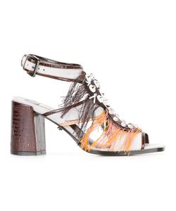 Dorothee Schumacher | Embellished Strappy Sandals Womens Size 39 Leather/Suede/Patent Leather
