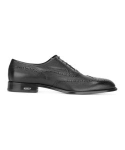 Baldinini | Logo Plaque Detail Brogues Mens Size 45 Calf Leather/Leather