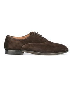 Silvano Sassetti   Round Toe Derby Shoes Mens Size 7.5 Leather/Rubber/Suede