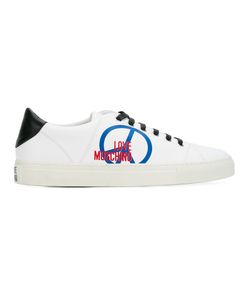 Love Moschino   Lace Up Trainers Mens Size 44 Leather/Polyester/Rubber