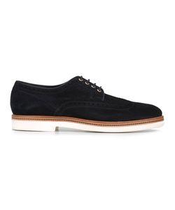 Santoni | Lace Up Derby Shoes Mens Size 7 Suede/Leather/Rubber
