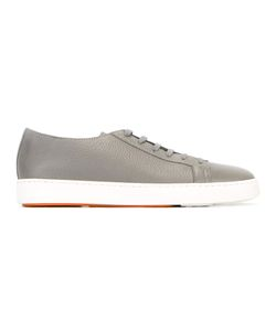 Santoni | Lace-Up Sneakers Mens Size 44 Leather/Rubber