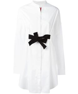 Moncler Gamme Rouge   Bow Tie Fronted Shirt Dress Womens Size 0