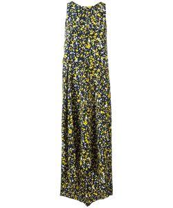 Cédric Charlier | Draped Asymmetric Dress Womens Size 44 Silk