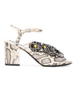No21   Labirinto Sandals Womens Size 39 Leather/Metal