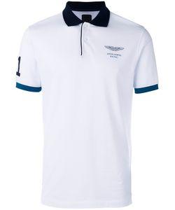 Hackett | Chest Print Polo Shirt Mens Size Medium Cotton/Spandex/Elastane