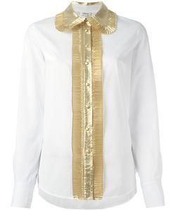 Manoush | Contrast Shirt Womens Size 36 Cotton/Nylon/ Fibre