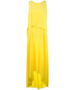 Cédric Charlier | Draped Asymmetric Dress Womens Size 42 Silk